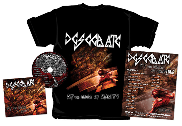 T-shirt, tour flyer and album design for <br>